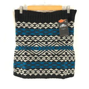 Everest Mini Skirt Wool Striped Fair Isle Size M